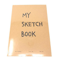 -Sketch book 27x38,8cm kraft 30p