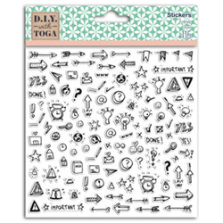 1 pl. stickers 15x15 icones bujo