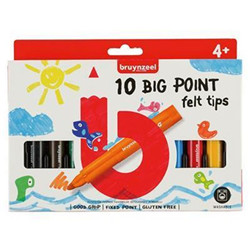10 marqueurs Big point felt tips