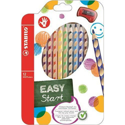 12 easycolors droitier + taille crayon