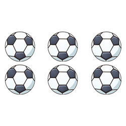 16 mini disques 3,4cm - football