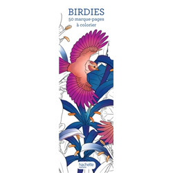 50 marques-pages à colorier « birdies »