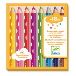 8 crayons 18 mois