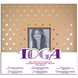 Album 30x30 kraft pois or