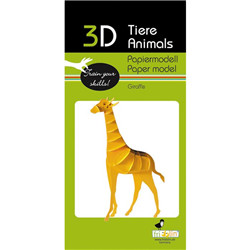 Animal 3D en papier - girafe