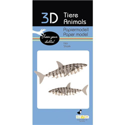 Animal 3D en papier - requin