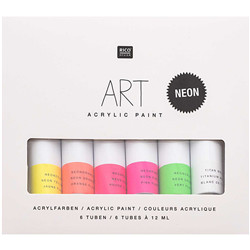 Art acrylic set fluo 6x12ml