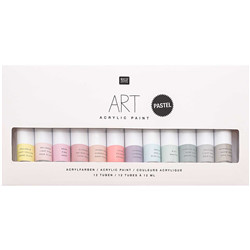 Art acrylic set pastel 12x12ml