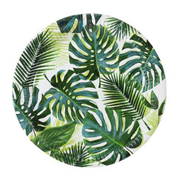 Assiettes en papier - tropical 8pc