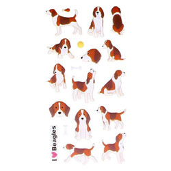 "Autocollants ""puffies""  beagles"