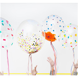 Ballon transparent en plastique 50cm