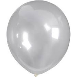 Ballons 23 cm, transparent, ronds, 10p