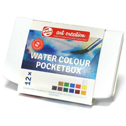 Boite aquarelle Art Creation 12 d/godets