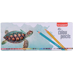 Boite crayons 45pc - tortue
