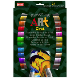 Boite de 24 sticks gouache solide art