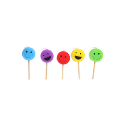 Bougies smiley 5pc