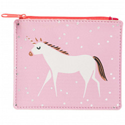 Bourse licorne rose