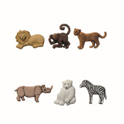 Boutons animaux sauvages