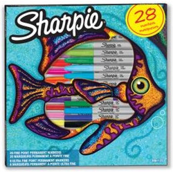 "Box 28 Sharpie ""poisson"""