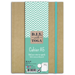 Cahier bullet journal kraft 240p a5