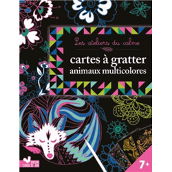 Cartes à gratter animaux multicolores