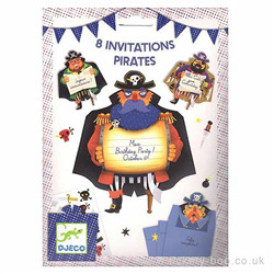 cartes d'invitations pirates