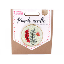 Coffret punch needle vegetal