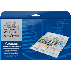 Cotman painting plus set 24 demi godet
