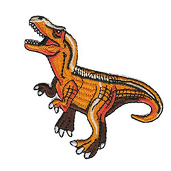 Dinosaure t-rex thermocollant orange
