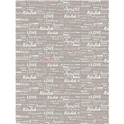 Feuille decopatch gris amour