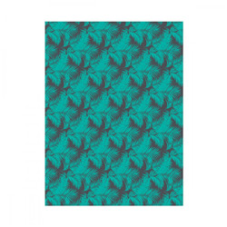Feuille decopatch palmiers turquoises