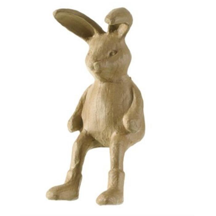 Creacorner   Figurine En Papier Mâché Lapin Assis