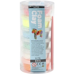 Foam clay - assortiment, 6x14 gr paste