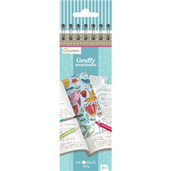 Graffy bookmark, mandala/fleurs