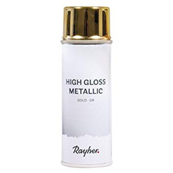 High gloss métallique spray doré