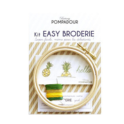 Kit broderie - hello ananas
