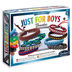 Kit créatif - bracelets just for boys