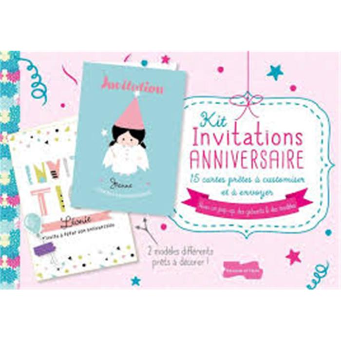 Creacorner kit invitation anniversaire kit invitation anniversaire stopboris Image collections