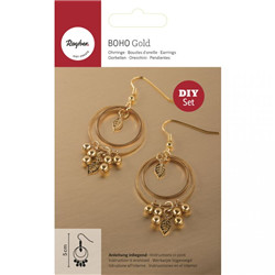 Kit: pendants d'oreille feuille d'or
