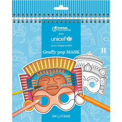 Masques à colorier unicef