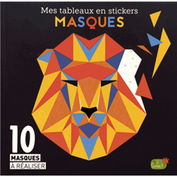 Mes tableaux en stickers « masques »