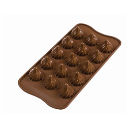 Moule chocolat 3d silicone « flame »