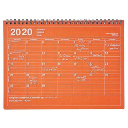 Notebook 2020 calendar orange