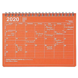 Notebook calendar 2020 S Orange