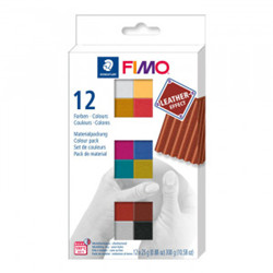 Pack fimo cuir 12 couleurs