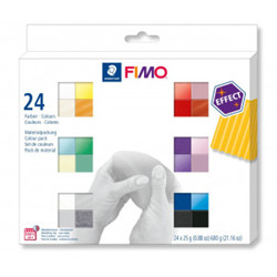 Pack fimo effect 24 couleurs