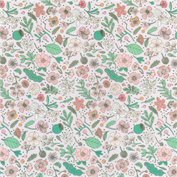 Paperpatch hygge fleurs et or