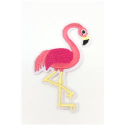 Patch flamand rose thermocollant