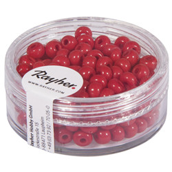 Perles indiennes, 4,5 mm, rouge