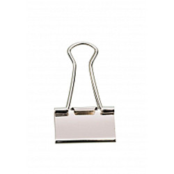 Pince double clips argent 32mm